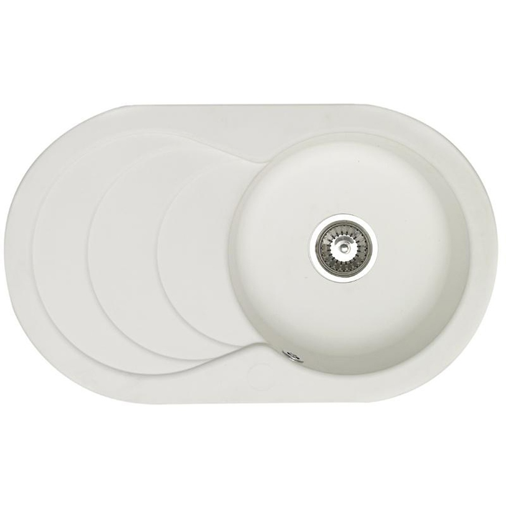 Astracast Cascade 1 0 Bowl Asterite Granite White Kitchen