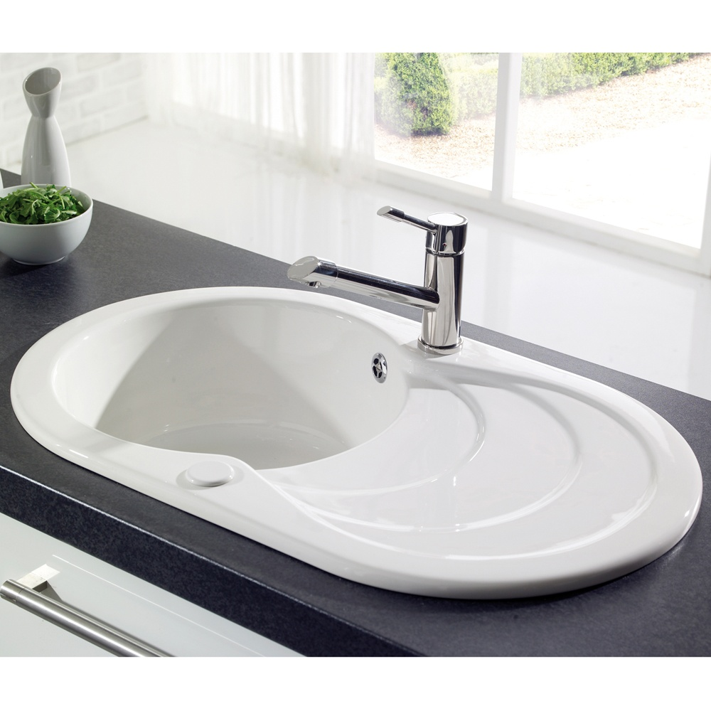 Http Tapsuk Com Astracast Cascade 10 Bowl Gloss White Ceramic Kitchen Sink P1287