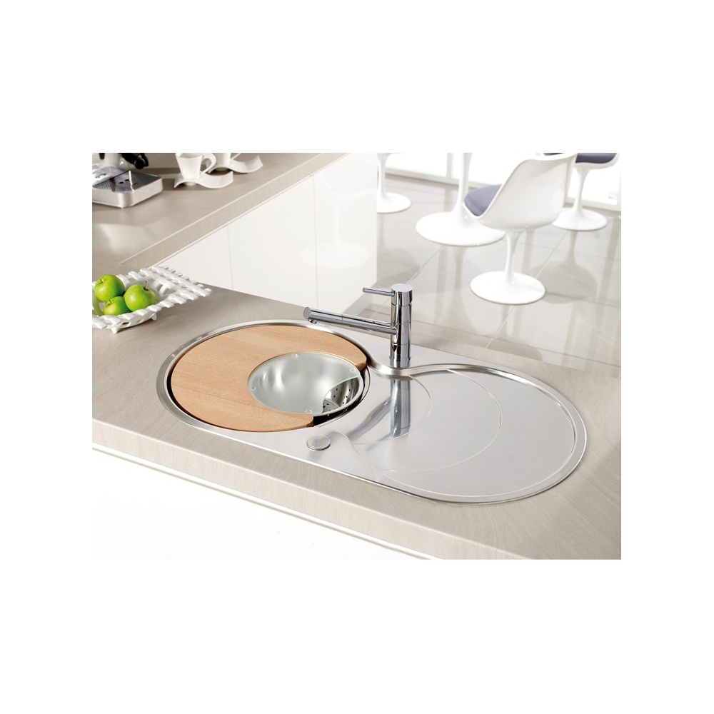 ... Cascade 1.0 Bowl Polished Stainless Steel Kitchen Sink & Accessories