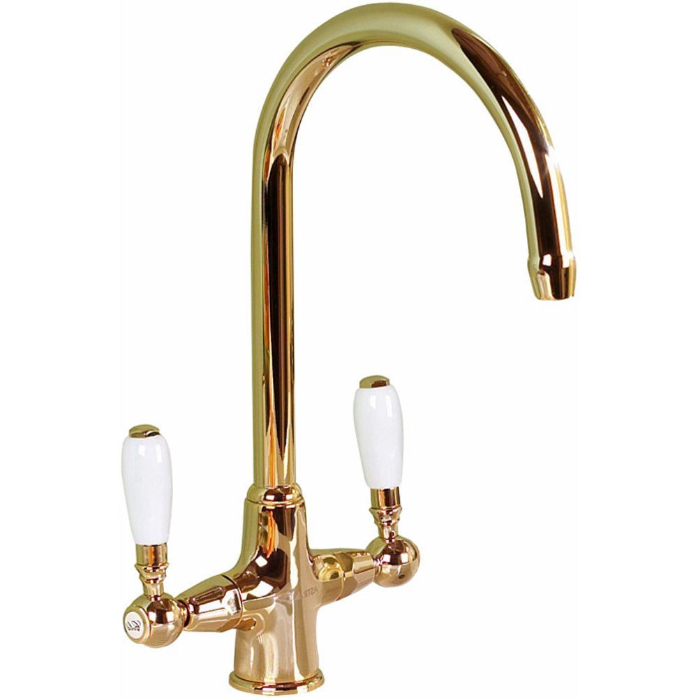 Astracast Colonial English Gold Kitchen Sink Mixer Tap TP0326