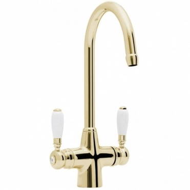 Astracast Colonial Springflow Gold Kitchen Sink Mixer Tap TP0483