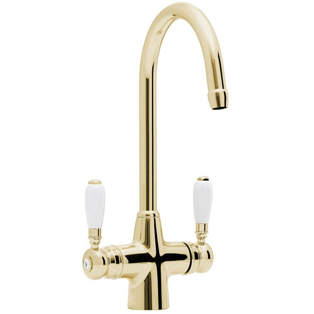 Astracast Colonial Springflow Gold Kitchen Sink Mixer Tap
