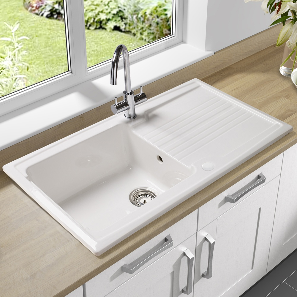 Astracast Equinox 1 0 Bowl Gloss White Ceramic Kitchen