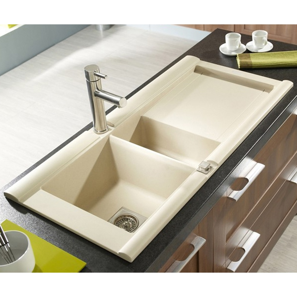 Astracast Geo 1.5 Bowl ROK Granite Sahara Beige Kitchen Sink RHD ...