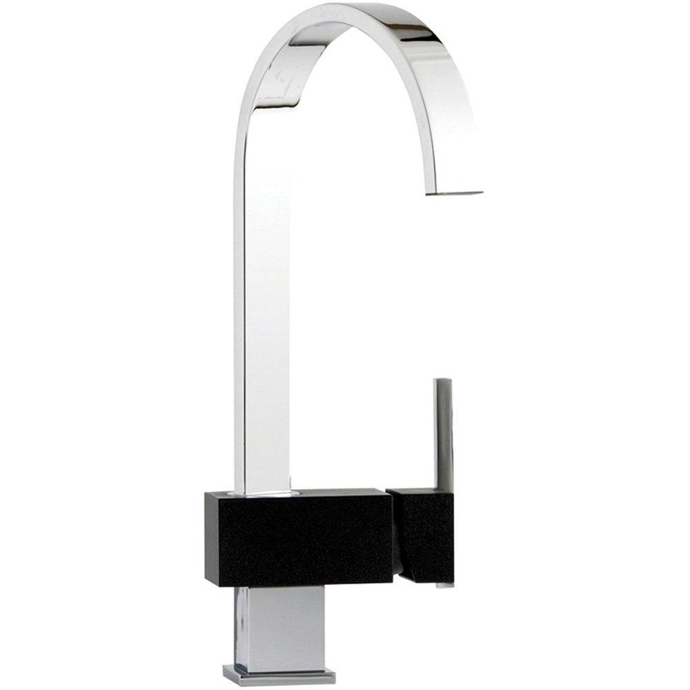 Astracast Indus Chrome  Black Kitchen Sink Mixer Tap TP - Kitchen sink taps uk