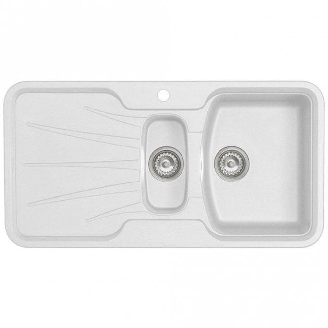 Astracast Korona 1.5 Bowl ROK Granite Opal White Kitchen Sink ...
