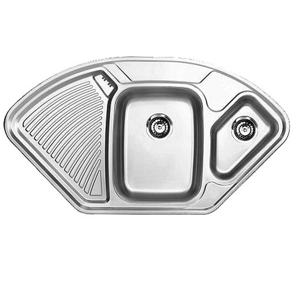 Stainless Steel Corner Sinks For Kitchens : corner kitchen sinks stainless steel corner kitchen sink cabinet