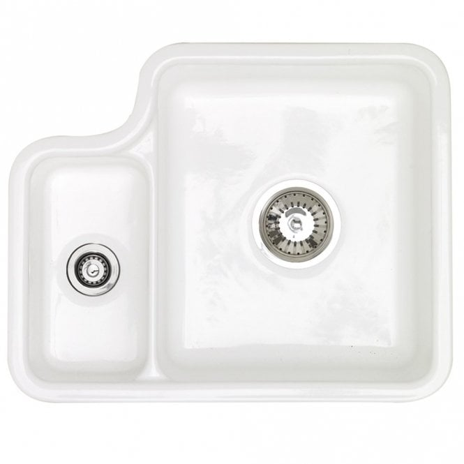 Astracast Lincoln 1 5 Bowl Gloss White Ceramic Undermount Kitchen ...