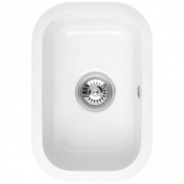 Astracast Lincoln 2540 0.5 Bowl Gloss White Ceramic Undermount Kitchen Sink