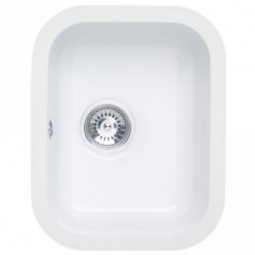 Astracast Lincoln 3040 1.0 Bowl Gloss White Ceramic Undermount Kitchen Sink