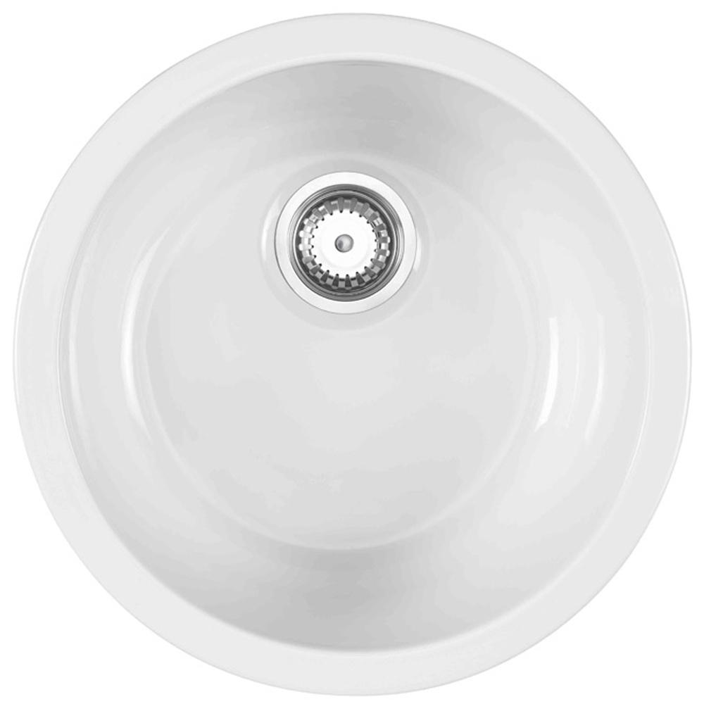 astracast lincoln 40r1 10 bowl round gloss white ceramic kitchen sink lnr1whhomesk. beautiful ideas. Home Design Ideas