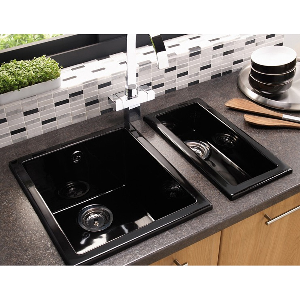 superior Black Ceramic Undermount Kitchen Sinks #3: Black Undermount Kitchen Sink Eldiwaan