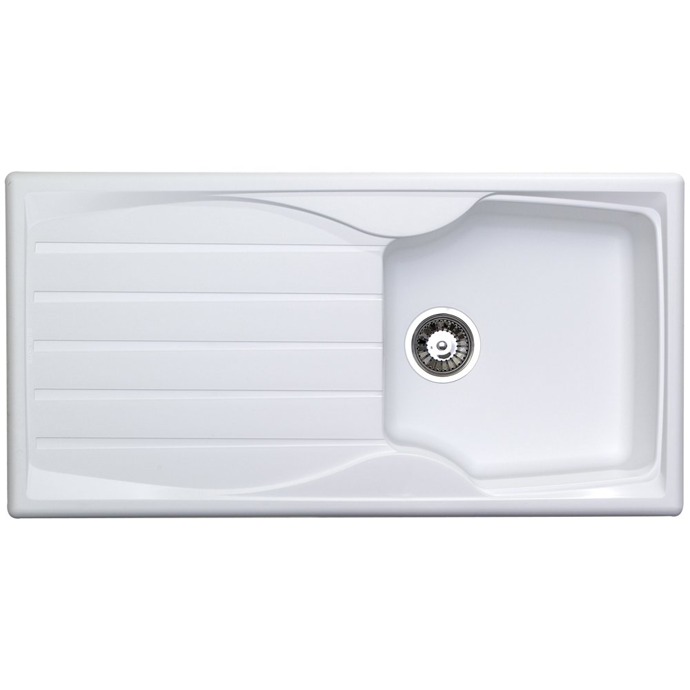 astracast sierra 10 bowl teflite plastic white kitchen sink u0026 waste - White Kitchen Sink