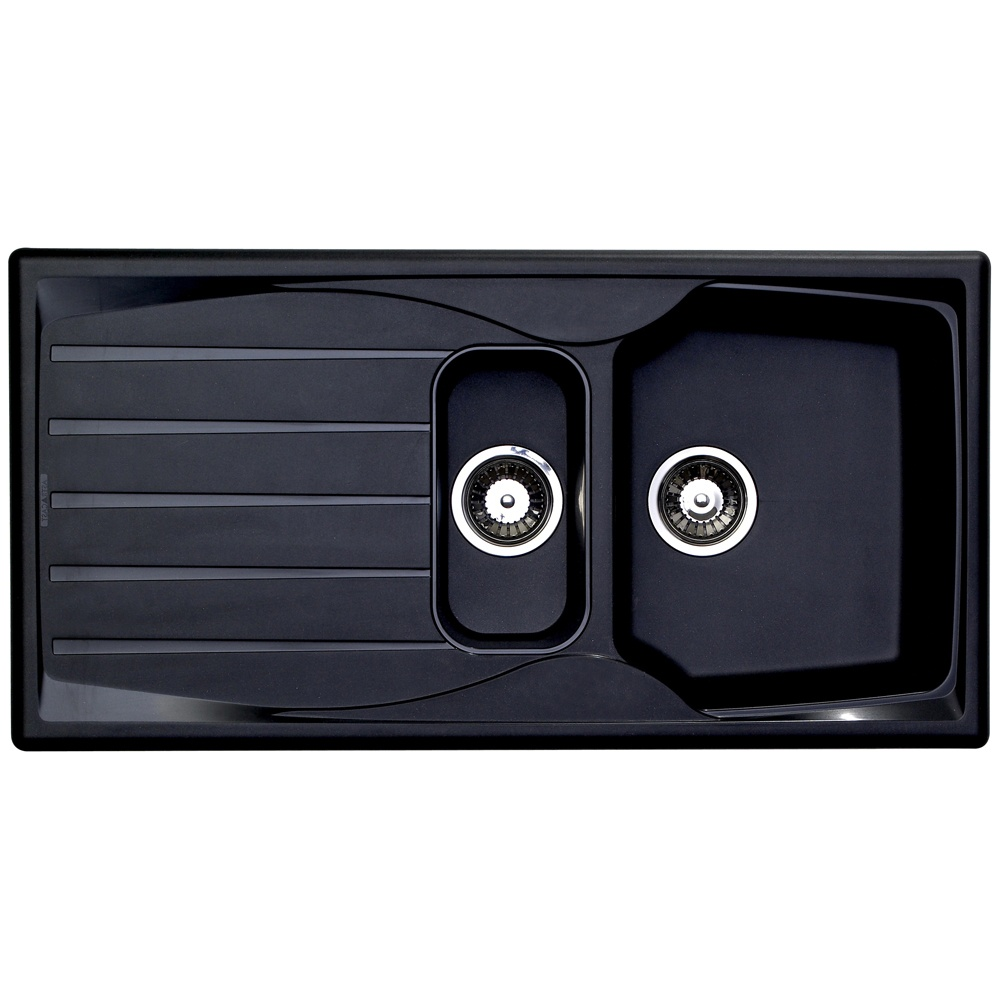 Astracast Sierra 1 5 Bowl Teflite Plastic Black Kitchen