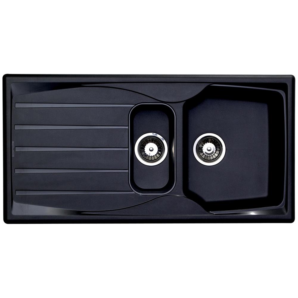 astracast sierra 1 5 bowl teflite plastic black kitchen