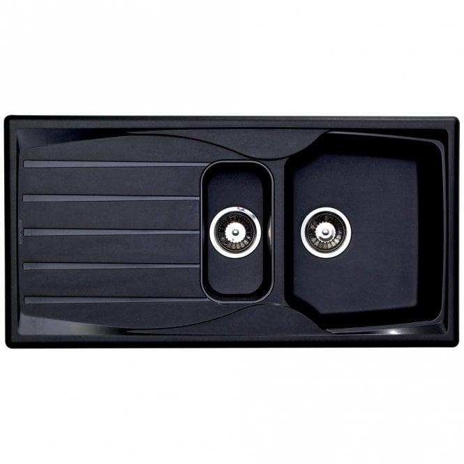 Astracast Sierra 1.5 Bowl Teflite Plastic Black Kitchen Sink ...