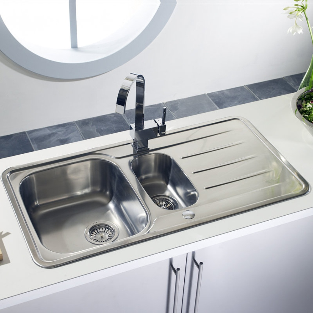 ... Bowl Polished Stainless Steel Kitchen Sink & Accessories TP15XXHOMEPK5