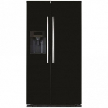 Caple American Black Steel Side By Side Fridge Freezers CAFF205BK
