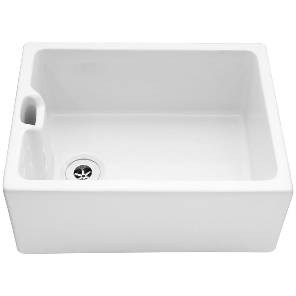 Ceramic Farmhouse Kitchen Sink : ... Bowl White Ceramic Farmhouse Kitchen Sink CPBS2 - Caple from TAPS UK