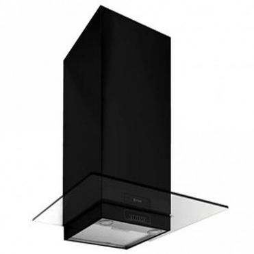 Caple Black And Clear Glass Wall Chimney Hood FGC910BK