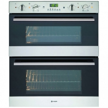 Caple Classic Stainless Steel And Glass Electric Built-under Double Oven C4244