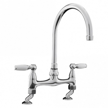 Caple Knightsbridge Bridge Chrome Kitchen Sink Mixer Tap K/BRI3/CH