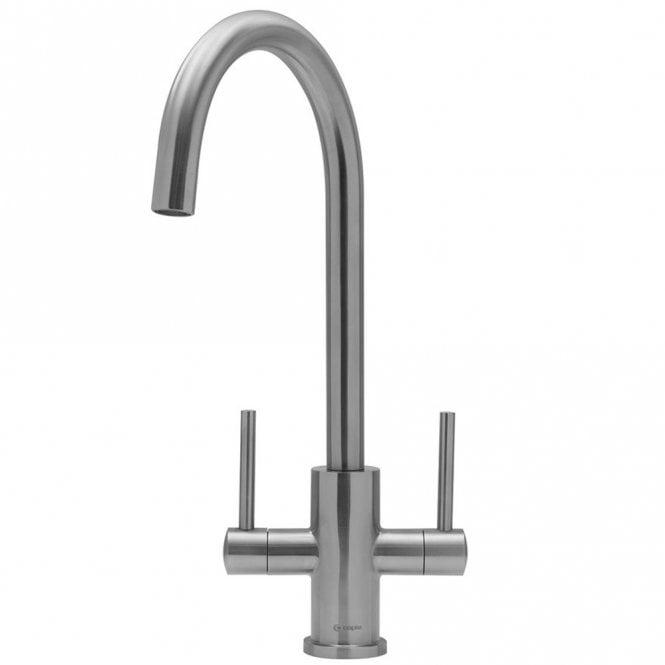Caple Lamar Monobloc Solid Stainless Steel Twin Lever Kitchen Sink ...