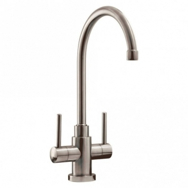 Caple Lamar Stainless Steel Twin Lever Kitchen Sink Mixer Tap LAM2/SS