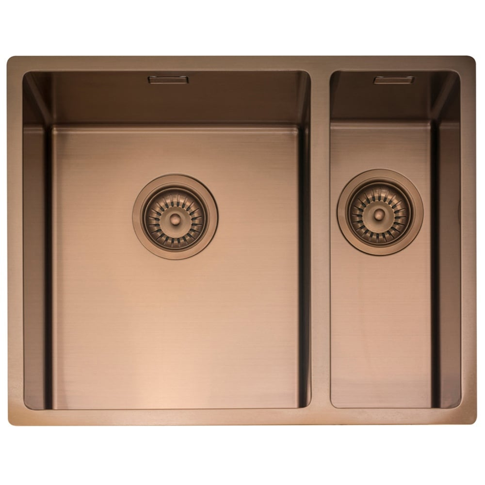 Caple Mode 3415 1 5 Bowl Copper Stainless Steel Kitchen Sink Kitchen From Taps Uk