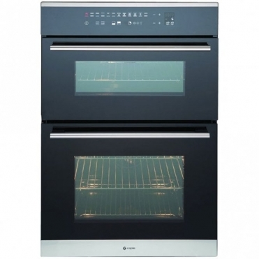 Caple Sense Stainless Steel And Black Glass Electric Double Oven C3370