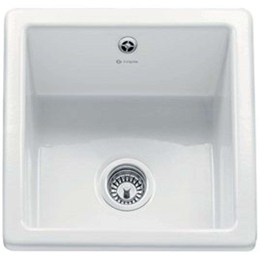 caple square 10 bowl white ceramic kitchen sink csbq. beautiful ideas. Home Design Ideas
