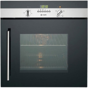 Caple Stainless Steel And Black Glass Electric Side Opening Single Oven C2219