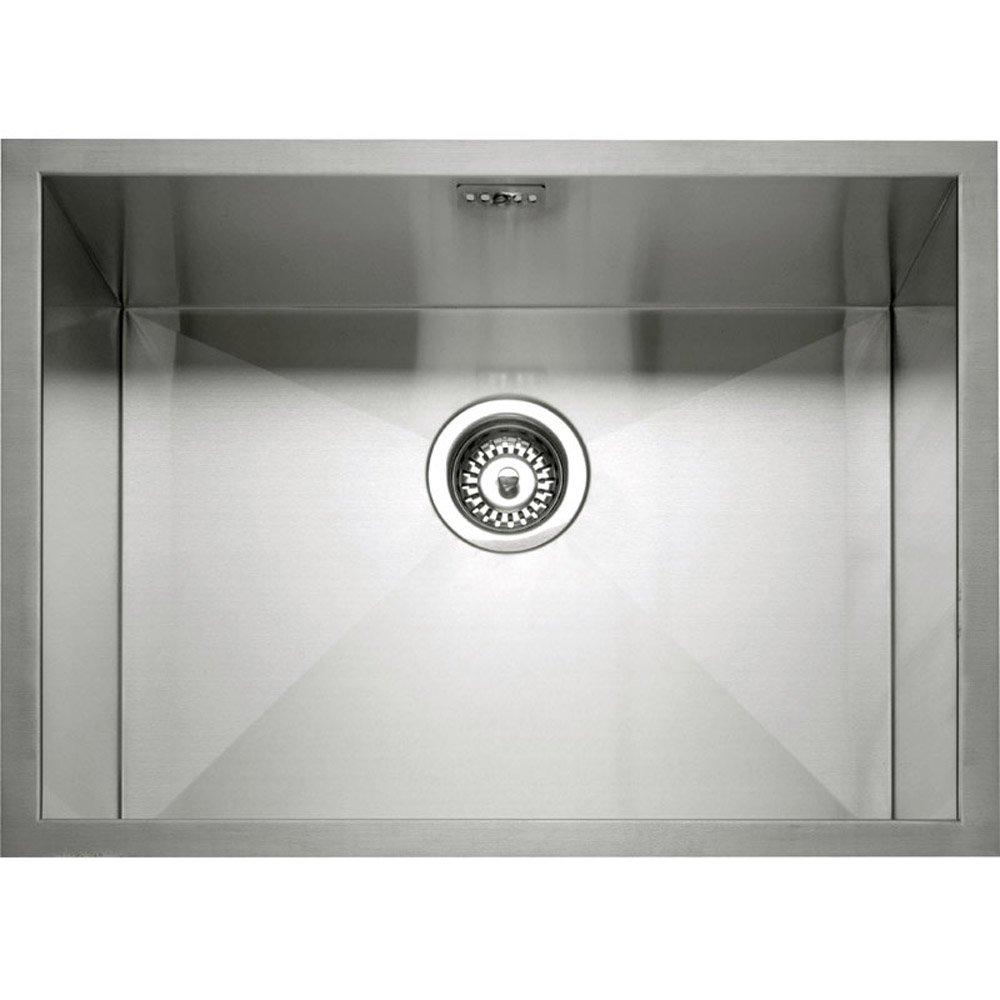 caple zero 55 10 bowl brushed stainless steel undermount kitchen sink - Brushed Steel Kitchen Sinks