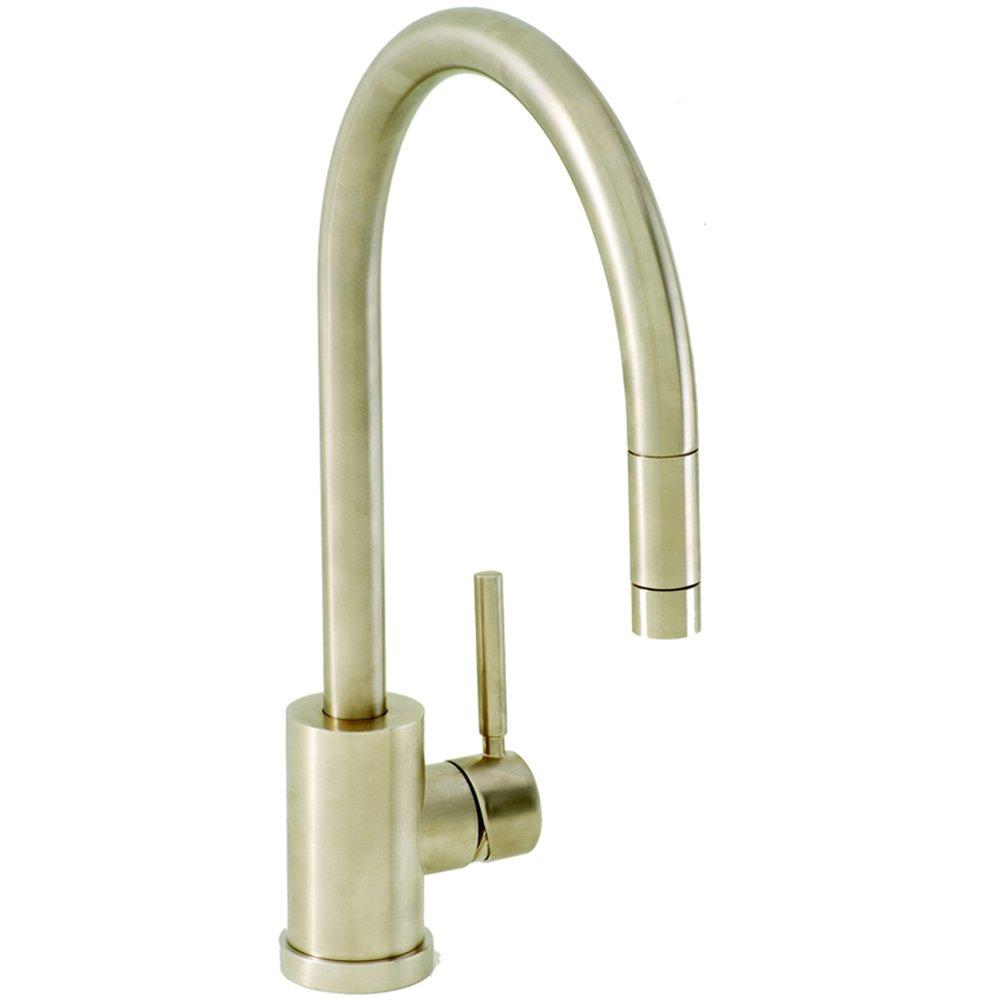 Carron Phoenix Aros Pullout Brushed Nickel Kitchen Sink Mixer Tap - Kitchen sink taps uk