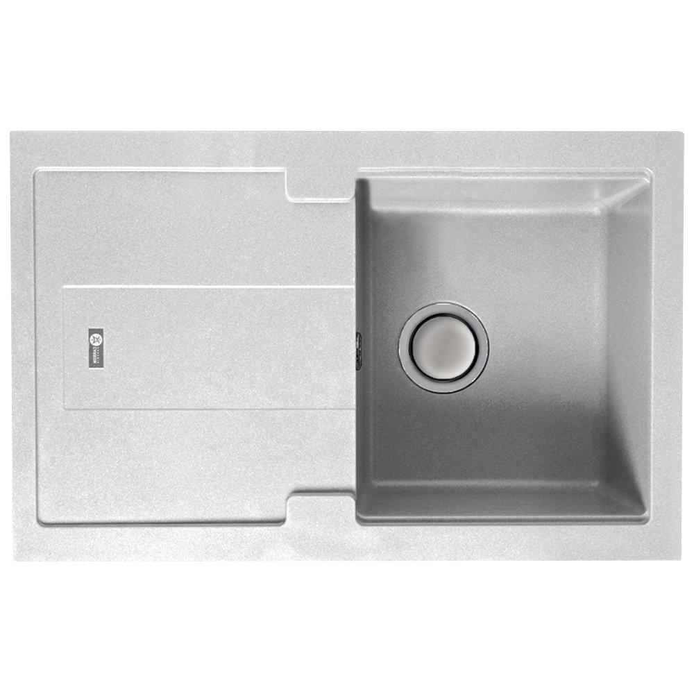 Granite Kitchen Sinks Uk Carron Phoenix Bali 100 10 Bowl Polar White Granite Kitchen Sink