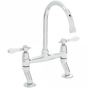 Carron Phoenix Barra Chrome Kitchen Sink Bridge Mixer Tap 115.0074.732