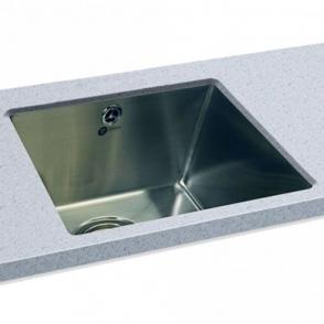 Carron Phoenix Deca 100 1.0 Polished Stainless Steel Undermount Kitchen Sink  U0026 Waste ...