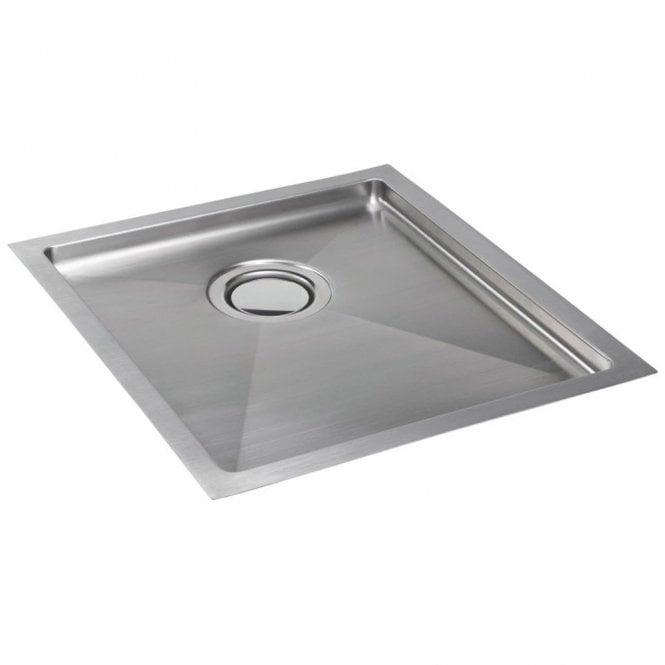 Carron Phoenix Deca 101 1.0 Bowl Polished Stainless Steel Kitchen Sink U0026  Waste 122.0194.409