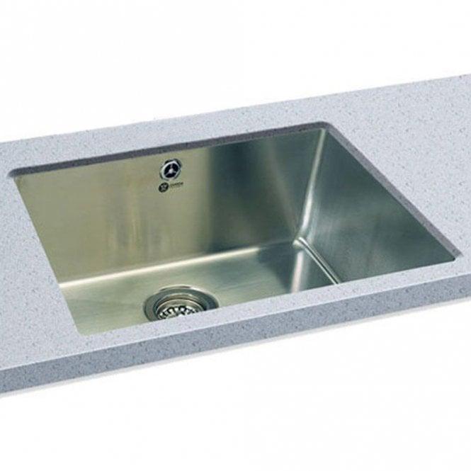 Carron Phoenix Deca 105 1.0 Polished Stainless Steel Undermount Sink U0026 Waste