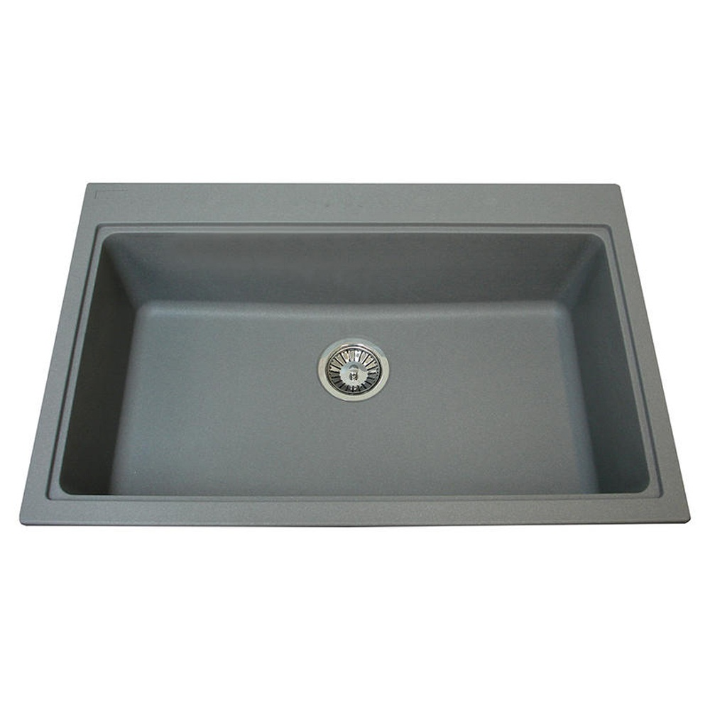 Stone Kitchen Sinks Uk : ... Granite Stone Grey Kitchen Sink & Waste - Carron Phoenix from TAPS UK