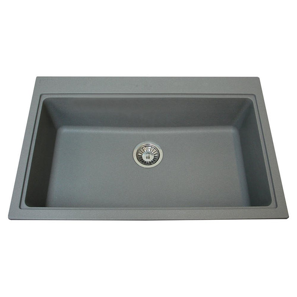 ... Granite Stone Grey Kitchen Sink & Waste - Carron Phoenix from TAPS UK