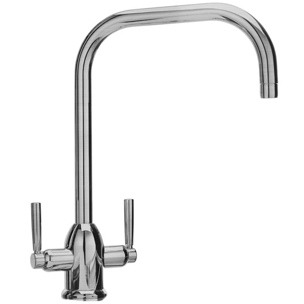 Carron Phoenix Lucida Chrome Twin Lever Kitchen Sink Mixer Tap - Kitchen sink taps uk