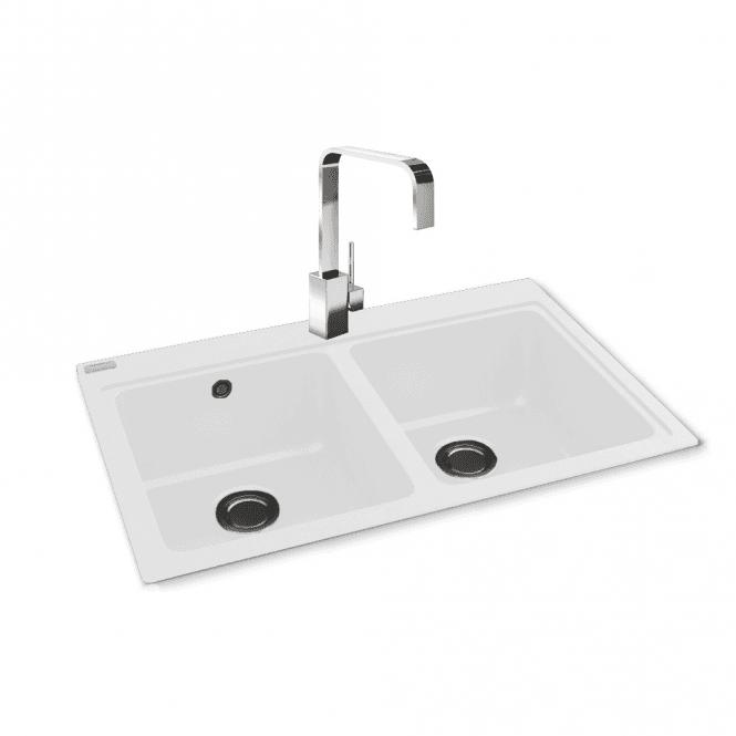 Carron Phoenix Samoa 200 2.0 Bowl Granite Polar White Kitchen Sink U0026 Waste  114.0295.552