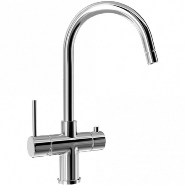 Carron Phoenix Seraphina Twin Lever Chrome Instant Boiling Water Kitchen Tap 119.0285.777