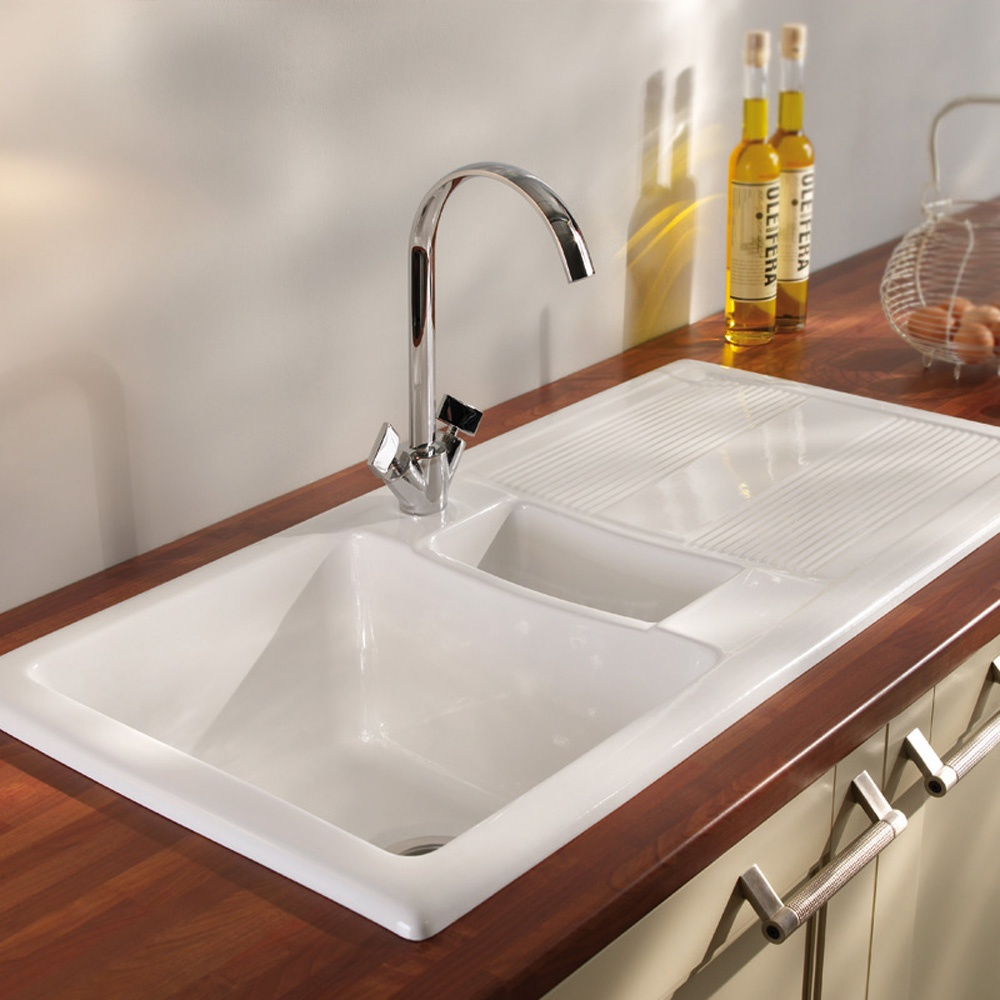 Ceramic Kitchen Sink : ... Bowl Ceramic Sinks ? View All Carron Phoenix 1.5 Bowl Ceramic Sinks