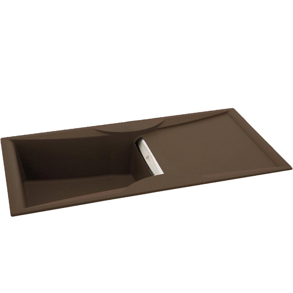 ... 100 1.0 Bowl Granite Espresso Brown Kitchen Sink & Waste 114.0159.565