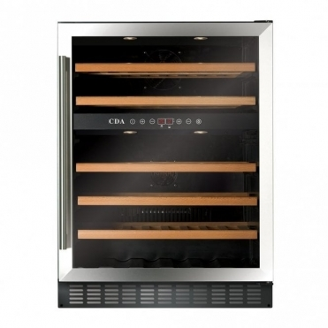 CDA 600 Mm Freestanding Under Counter Wine Cooler - Stainless Steel FWC603SS