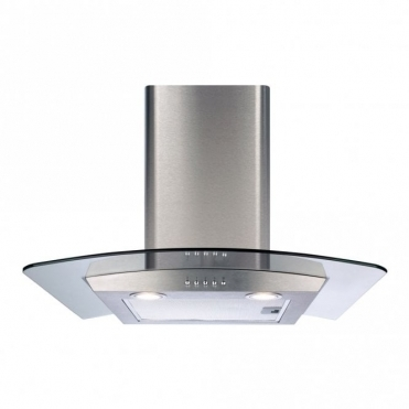 CDA 60cm Curved Glass Extractor Hood-stainless Steel ECP62SS