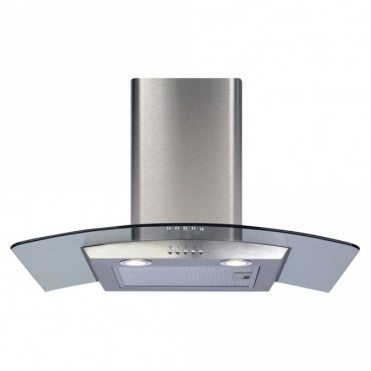 CDA 70cm Curved Glass Extractor Hood - Stainless Steel ECP72SS