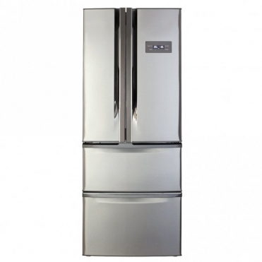 CDA American Style Two Door Fridge With Frost Free Two Drawer Freezer Stainless Steel Effect PC84SC